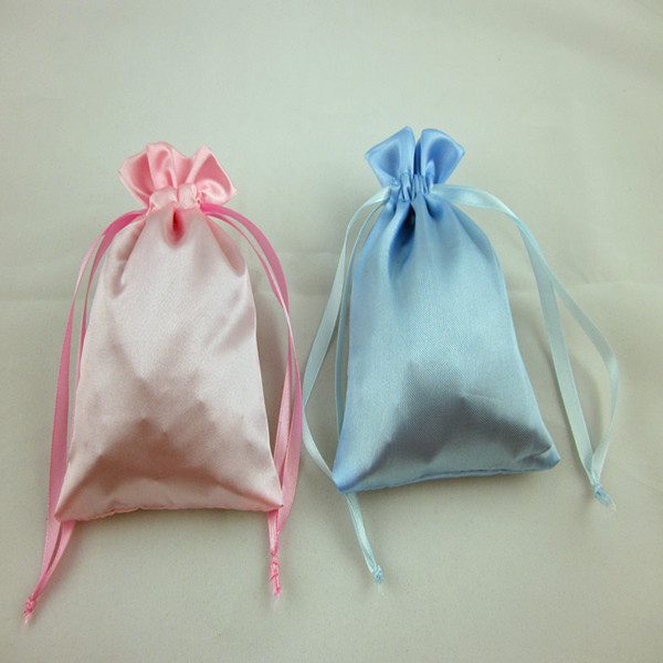 Wholesale High Quality Drawstring Promotional satin jewelry bags