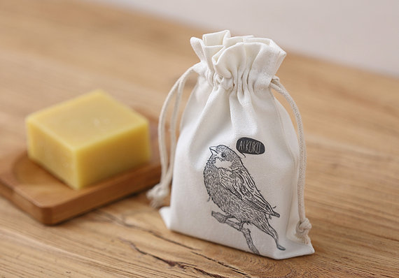 Wholesale Cotton Drawstring Soap Pouches