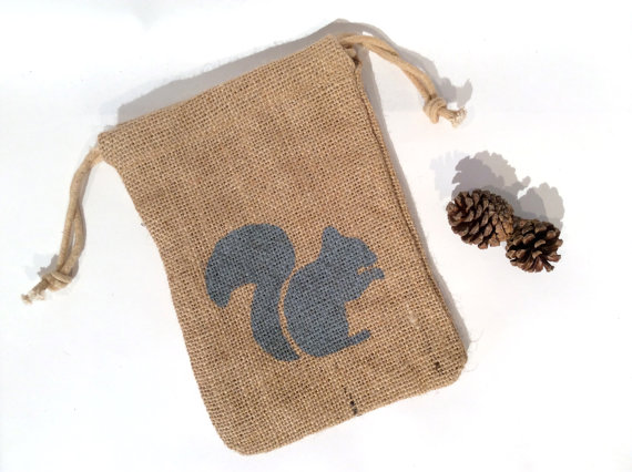 Burlap Pouches Jewelry Drawstring Bags
