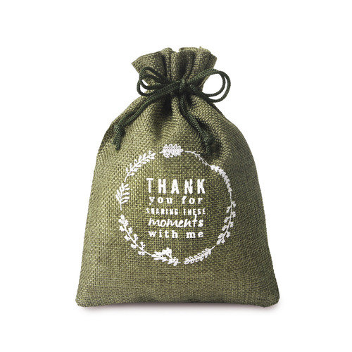 Natural Hessian Pouch For Gift