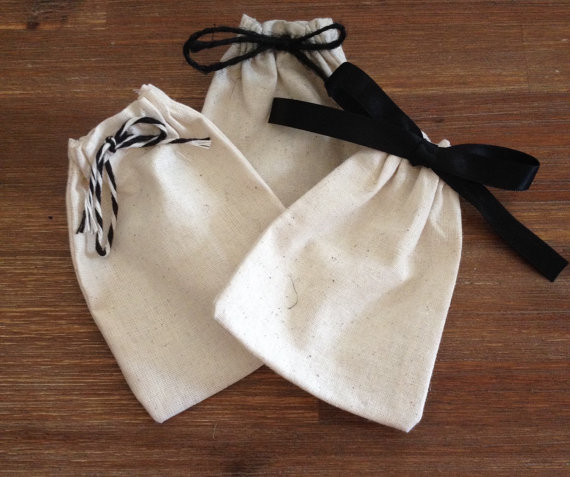 Promotional Jute Linen Drawstring Bag