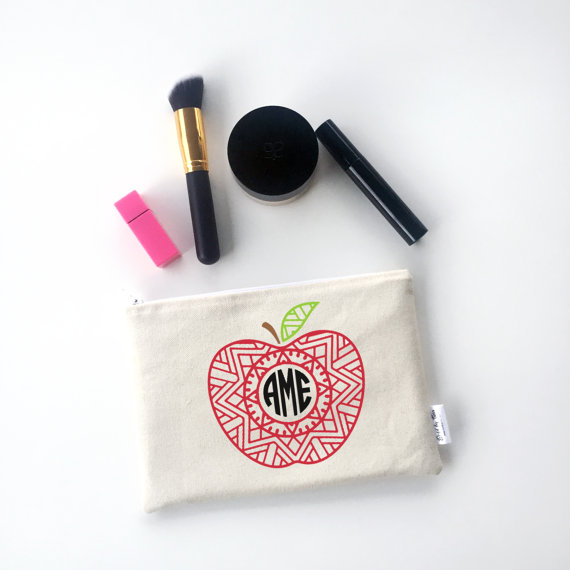 Canvas Makeup Zipper Bags